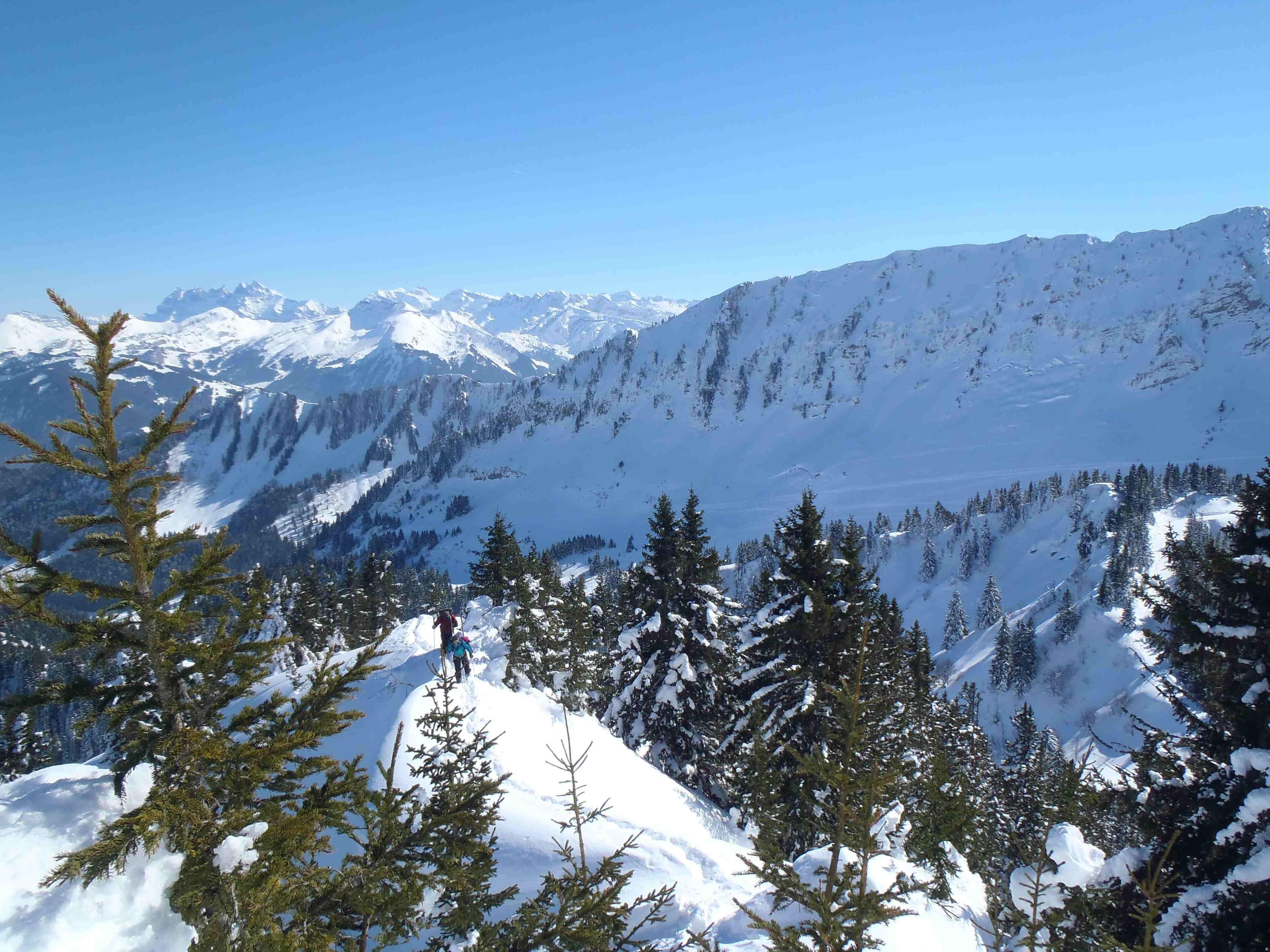 ski de rando dans le chablais