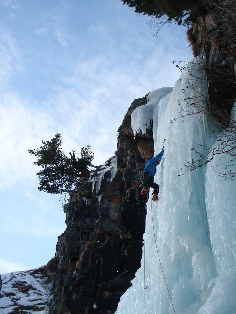 ice climbing morzine