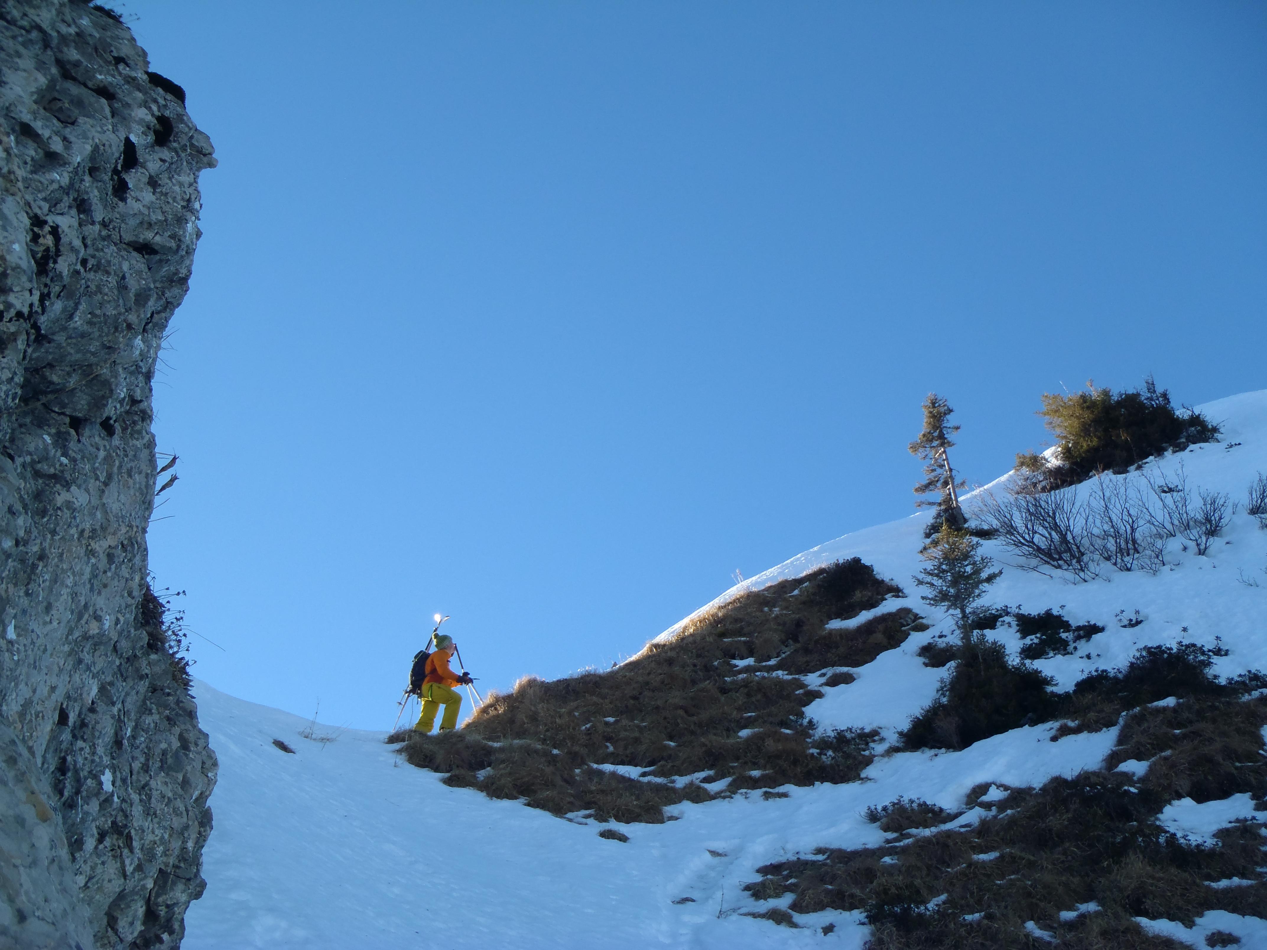 20140112 alpinisme traversée du roc d'enfer 3