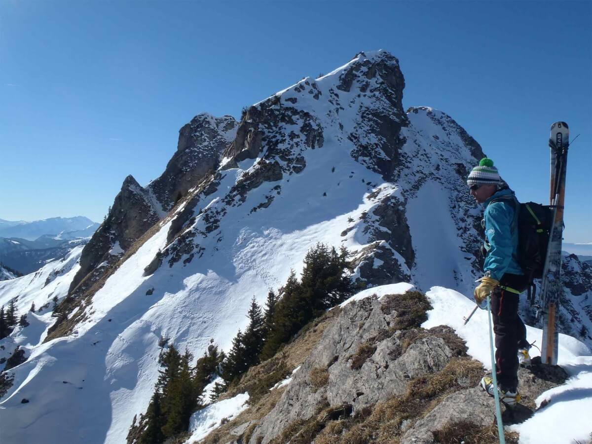 ski-alpinisme arête de saix pourri morzine