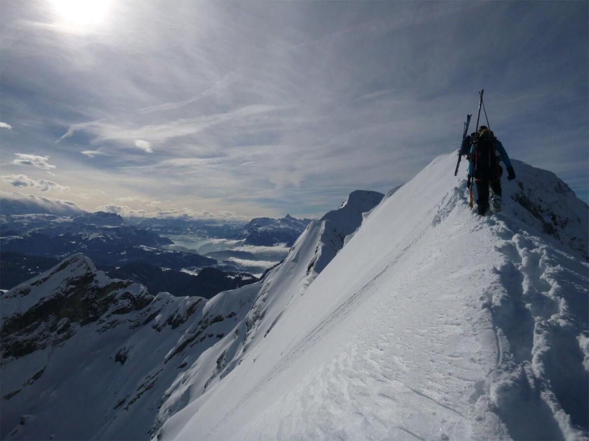 traversée du roc d'enfer ski-alpinisme