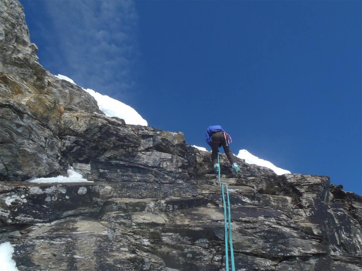 ski alpinisme dans les dents du midi