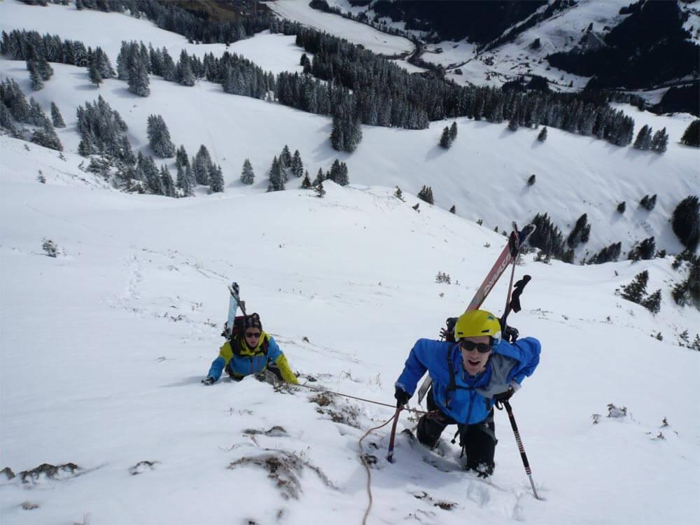 ski-alpinisme au mont chauffé