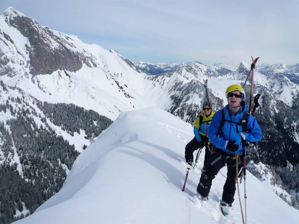 ski-alpinisme petit mont chauffé