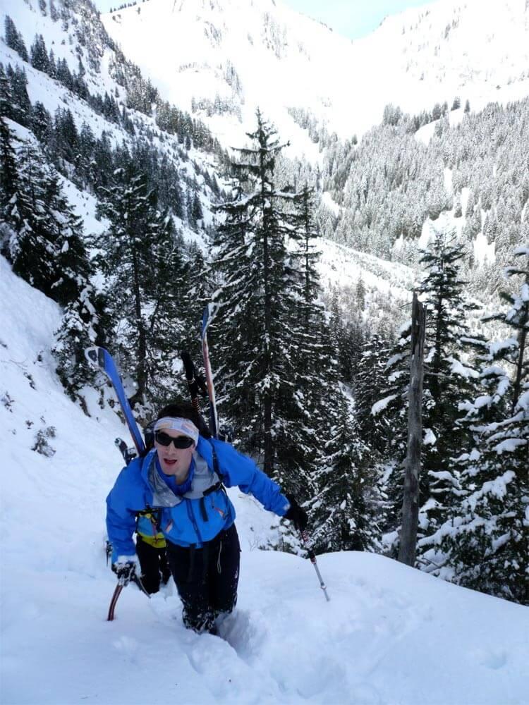 ski de rando mont chauffé