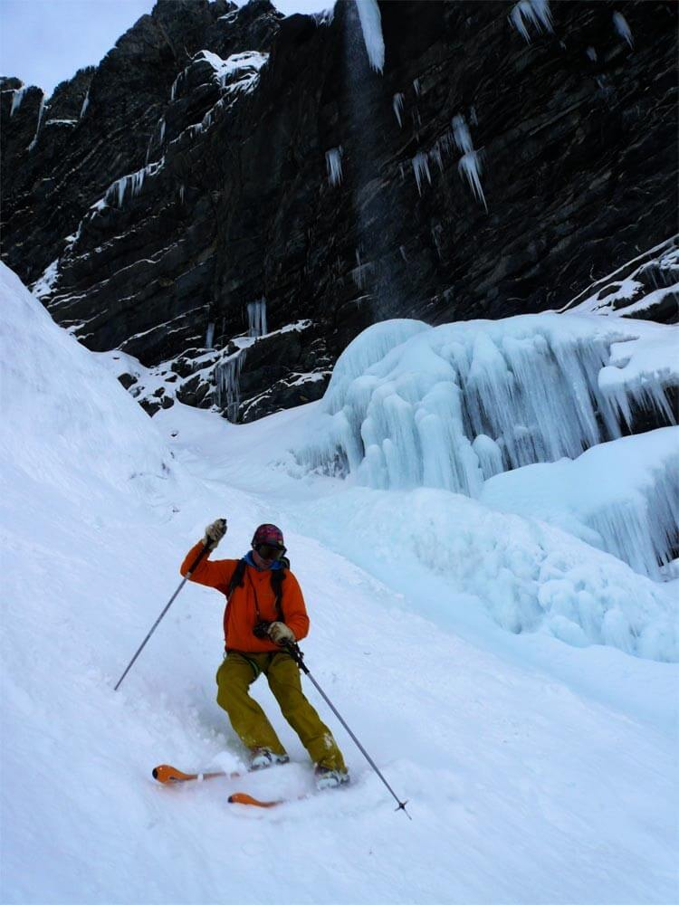 ski de pentes raides