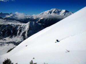 ski de rando au mont Vorassay