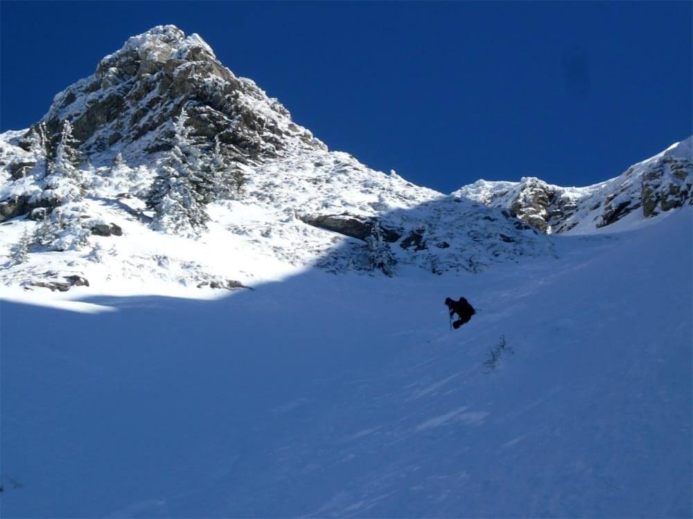ski de pentes raide pic de la corne