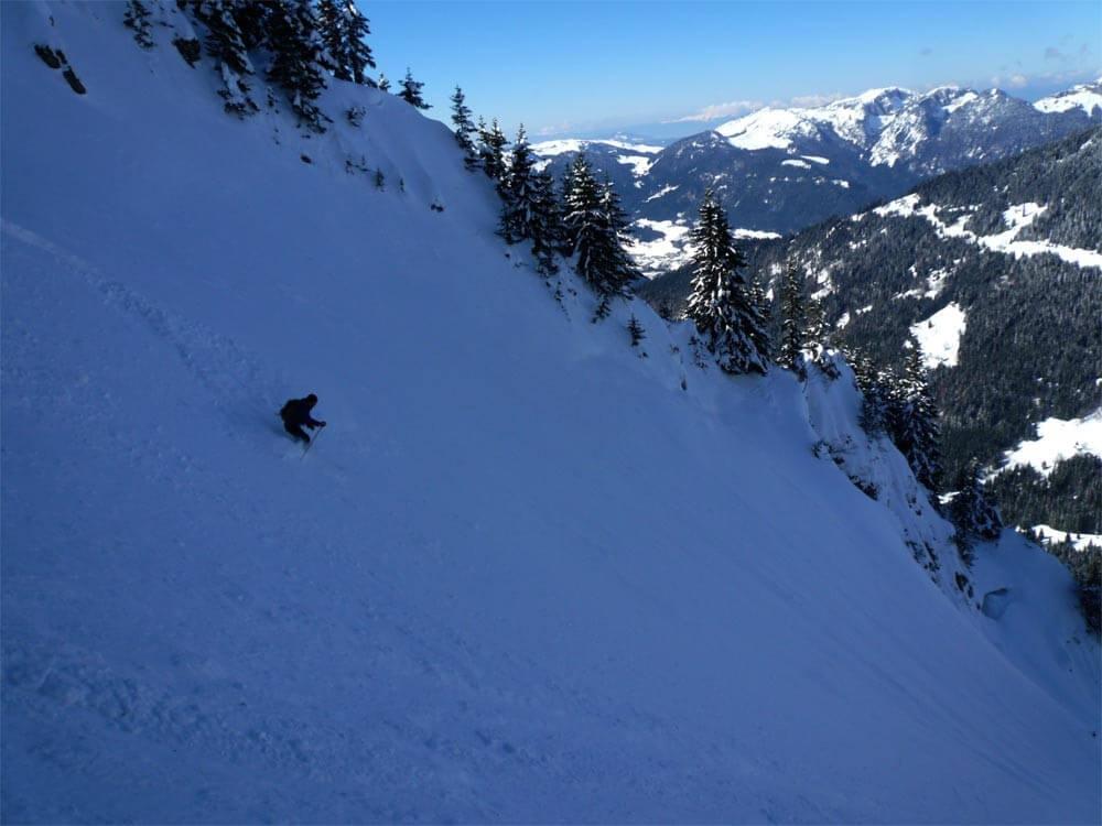 ski de pentes raides morzine guide