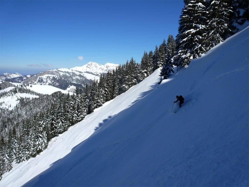 ski de couloir morzine guide