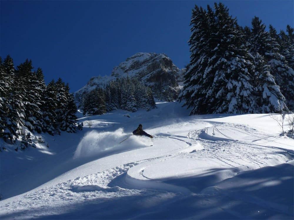 ski de couloir guide chablais