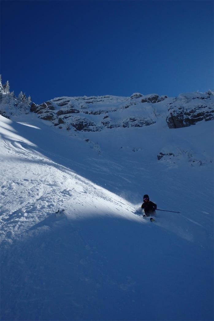 ski de pente raide morzine guide