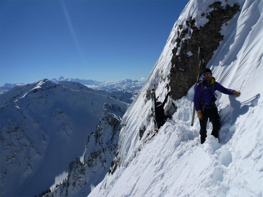 ski alpinisme pic de la corne