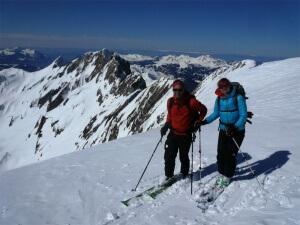 raid à ski dent de Barme