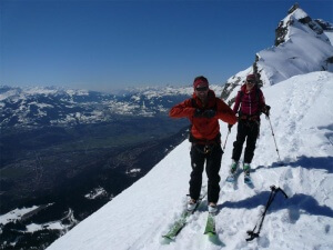 raid à ski brèche du Dérochoir