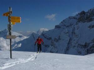 raid à ski dans les dents du Midi