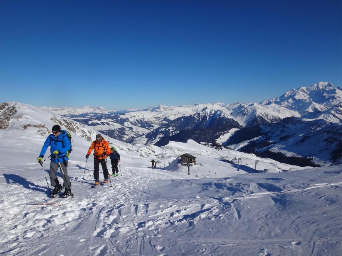 Départ du haut du domaine skiable d'Arèche