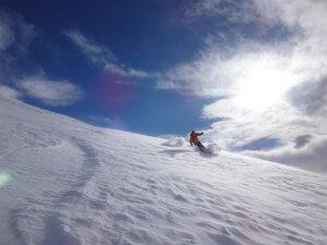 Un peu de peuf pour finir ce joli raid à ski