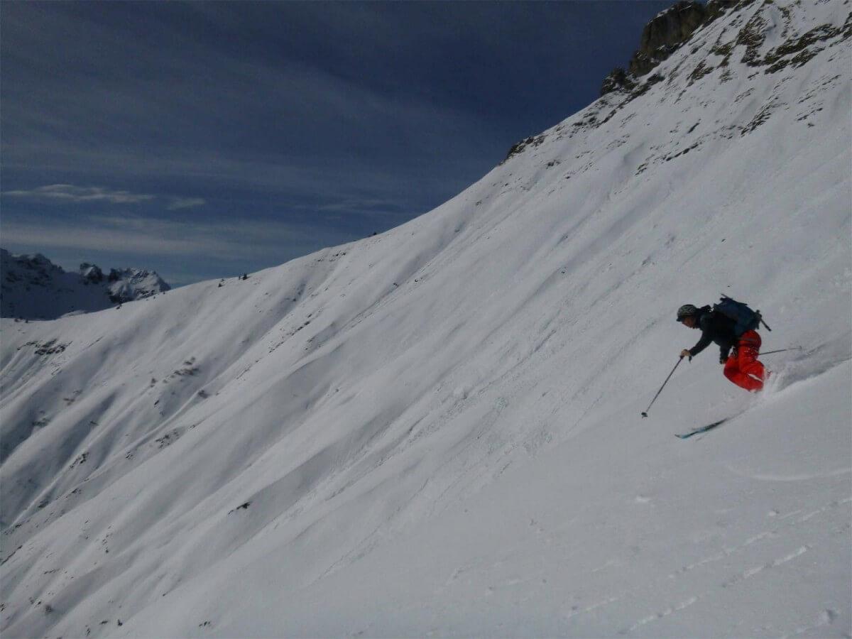 face sud du roc d'Enfer le ski se détend