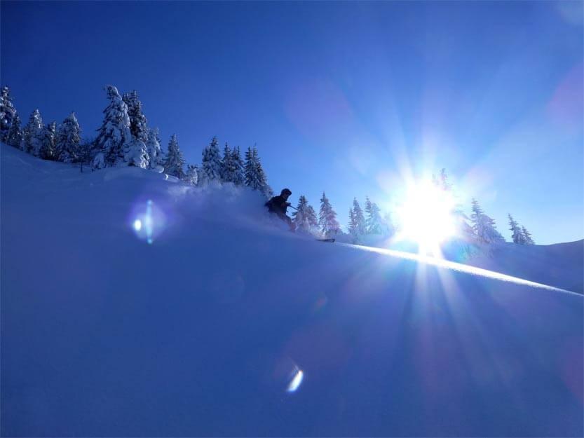 freerando sauvage dans les portes du soleil