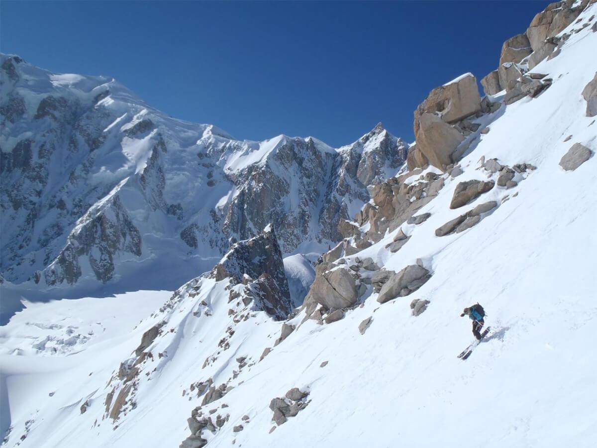 Tour Ronde versant Brenva, la freerando ultime