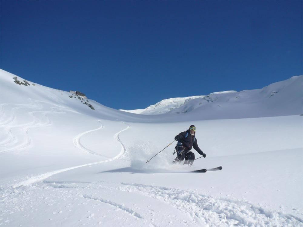belle neige au col du Passon, massif du Mont Blanc