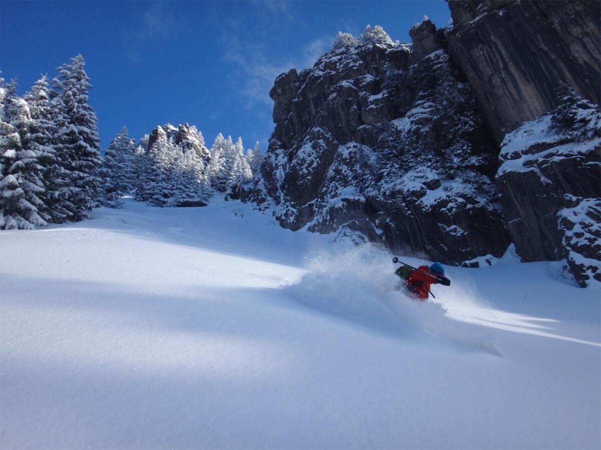 ski de rando au-dessus de Essert la Pierre