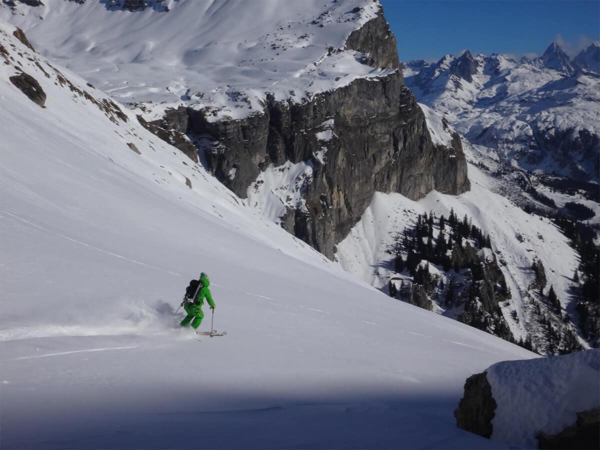 ski de randonnée dans les Fiz