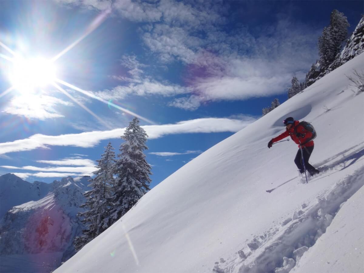 neige et soleil...