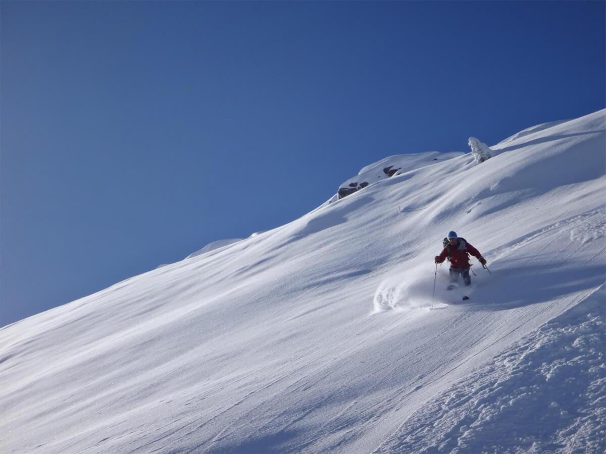 ski de rando de début de saison à Avoriaz